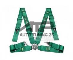 Спортивные ремни безопасности Takata 4 точки - Зеленый