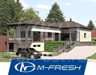 M-fresh Platinum Plus! (Проект дома с цоколем и скатной кровлей! ). 200-300 кв. м., 1 этаж, 5 комнат, бетон