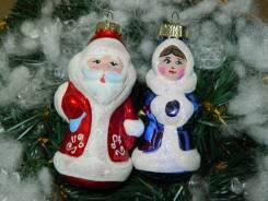 Набор елочных украшений Дед Мороз и Снегурочка