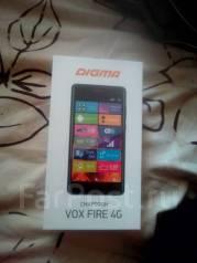 Digma Vox Fire. Новый, 8 Гб, Серый, 3G, 4G LTE, Dual-SIM, Защищенный, Кнопочный