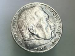 5 рейхсмарок. Третий Рейх. 1936 A (Берлин). Серебро