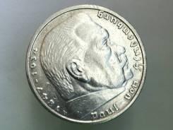 5 рейхсмарок. Третий Рейх. 1935 A (Берлин). Серебро