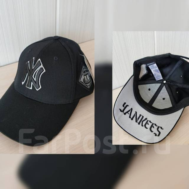 Кепка Бейсболка New york yankees черная с белым 3115402204559