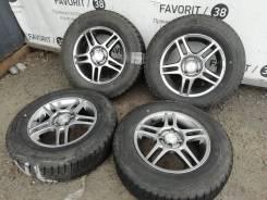 """Темный хром Conox на шинах Bridgestone 185/70R14. 5.5x14"""" 4x100.00 ET42"""