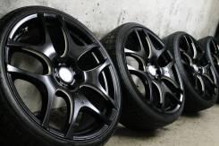 """Только из Японии! Редкий Эксклюзив! В черном цвете=Balken DTM+супер шины. 8.5/8.5x20"""" 5x114.30 ET48/33 ЦО 73,0мм."""