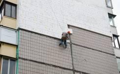Утепление стен, Ремонт швов, Высотные работы, Утепление балкона, Пеноплекс