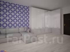 1-комнатная, улица Можжевеловая 16а. Чуркин, агентство, 35кв.м. Дизайн-проект