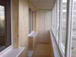 Обшивка балконов и лоджий частично и под ключ