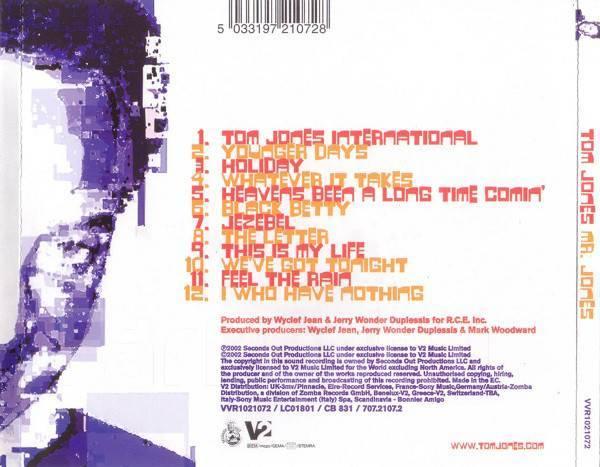 CD - Tom Jones – Mr  Jones - 2002 - Музыка, CD во Владивостоке