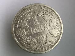 1 марка. Германская империя. 1875 B (Ганновер). Серебро