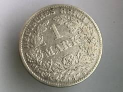 1 марка. Германская империя. 1873 D (Мюнхен). Серебро