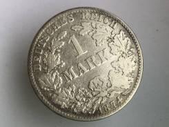 1 марка. Германская империя. 1874 B (Ганновер). Серебро