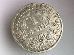1 марка. Германская империя. 1881 J (Гамбург). Серебро