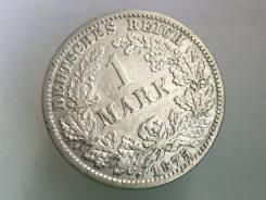 1 марка. Германская империя. 1875 C (Франкфурт). Серебро