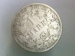 1 марка. Германская империя. 1881 A (Берлин). Серебро