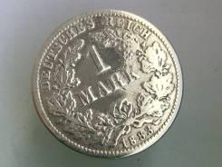 1 марка. Германская империя. 1883 D (Мюнхен). Серебро