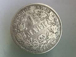 1 марка. Германская империя. 1885 A (Берлин). Серебро