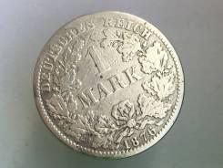 1 марка. Германская империя. 1876 A (Берлин). Серебро