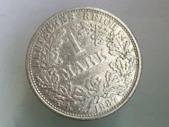 1 марка. Германская империя. 1887 A (Берлин). Серебро