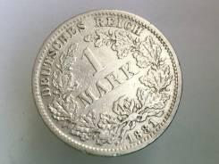 1 марка. Германская империя. 1881 D (Мюнхен). Серебро