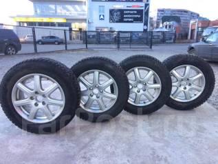 """Диски оригинал Honda R17 5x114,3 + 225/65 R17 Pirelli б. у. 7.0x17"""" 5x114.30 ET55 ЦО 73,1мм."""