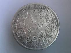 1 марка. Германская империя. 1874 G (Карлсруэ). Серебро