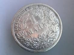 1 марка. Германская империя. 1875 F (Штутгарт). Серебро