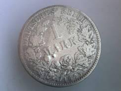 1 марка. Германская империя. 1875 H (Дармштадт). Серебро