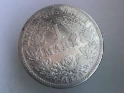 1 марка. Германская империя. 1876 F (Штутгарт). Серебро
