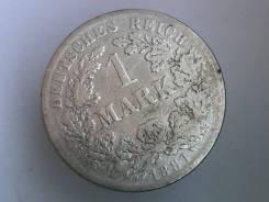 1 марка. Германская империя. 1881 F (Штутгарт). Серебро