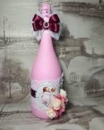 Оформление шампанского на рождение ребенка. Под заказ