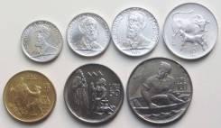 Набор 7 монет = Сан Марино (святые) - 1972 год. UNC