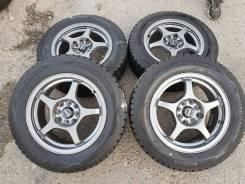 "Зимние колёса 4.100+4.114.3R15 A-Tech. 6.5x15"" 4x100.00, 4x114.30 ET38 ЦО 73,1мм."