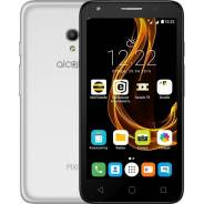 Alcatel Pixi 4 5 5045D. Б/у, 8 Гб, Серебристый, Серый, 3G, 4G LTE, Dual-SIM