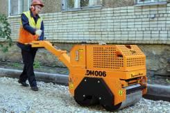 Завод ДМ DM006. Каток тротуарный двухвальцовый ручной DM006