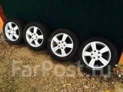 """Зимние колеса Michelin 205/55 R16 на литых дисках5*114,3. 6.5x16"""" 5x114.30 ET35 ЦО 73,1мм."""