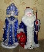 """Интерьерные куклы """"Дед Мороз и снегурочка"""" , под ёлку"""