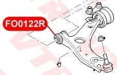 Сайлентблок передний переднего нижнего рычага FORD FOCUS 2 VTR FO0122R