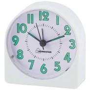 Настольные часы-будильник Homestar HC-05 круглый, белый (003798)