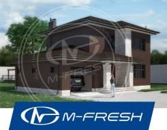 M-fresh Bergamont (Посмотрите сейчас этот проект дома с гаражом! ). 100-200 кв. м., 2 этажа, 3 комнаты, бетон