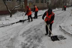 Очистка территории от снега и наледи