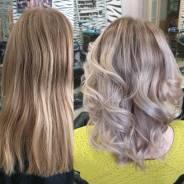 Окрашивание волос, стрижки, укладки