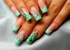 Наращивание ногтей, покрытие гель лаком, дизайн ногтей