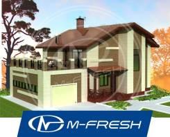 M-fresh My victory (Проект дома с гаражом, терраса, камин). 200-300 кв. м., 2 этажа, 6 комнат, бетон