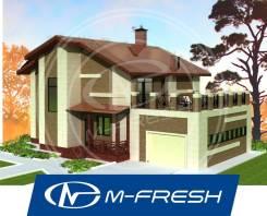 M-fresh My victory-зеркальный (Открытая терраса на крыше гаража! ). 200-300 кв. м., 2 этажа, 6 комнат, бетон