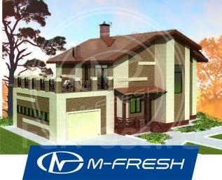 M-fresh My victory (Проект дома для Вас с террасой над гаражом! ). 200-300 кв. м., 2 этажа, 6 комнат, бетон