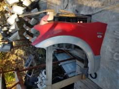 Крыло переднее левое Mitsubishi Pajero 3 рестайл цвет красный