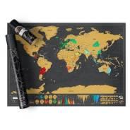 Скретч-карта Scretch Map, отличный подарок! 82,5*59,4см