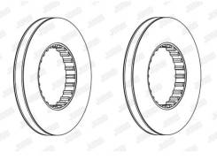 Диск тормозной не вентилируемый VOLVO Techno Brake 960457