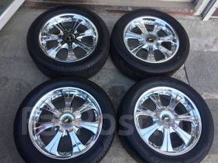 """265/50R20 Bridgestone лето на Lodio Drive хром Prado Lexus GX R20 8.5j. 8.5x20"""" 6x139.70 ET12 ЦО 106,0мм."""